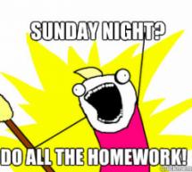College Memes: Sunday Homework
