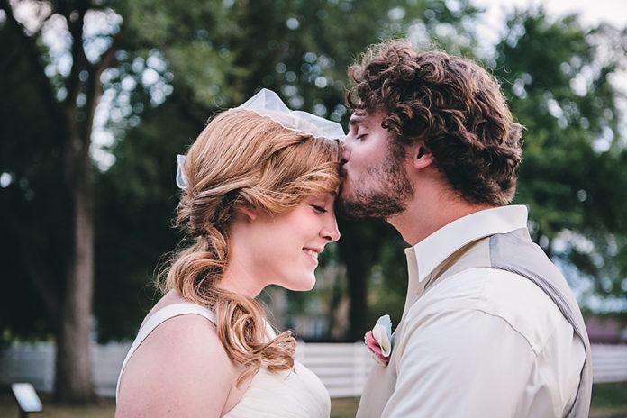 Andie and Garrett at their wedding