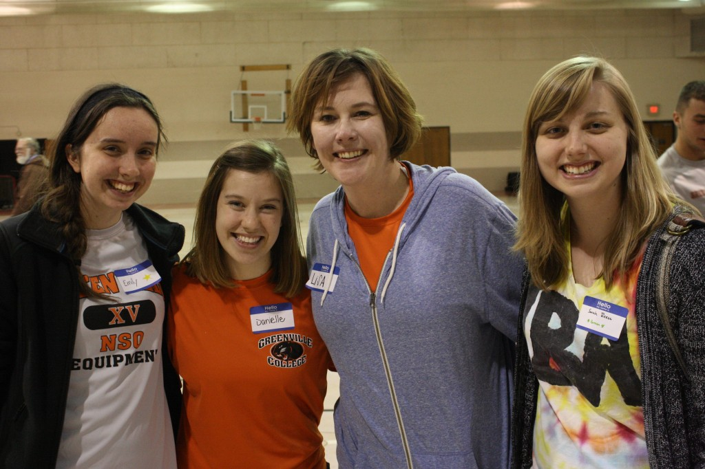 Emily Foster, Danielle Cottrell, Lisa Amundson and Sarah Reese loved getting to know the participants. Photo: Kat Kelley