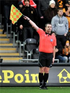 Assistant Referee Signals Offside