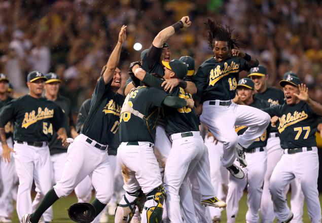 Oakland Celebrates clinching the AL West Media by www.nydailynews.com