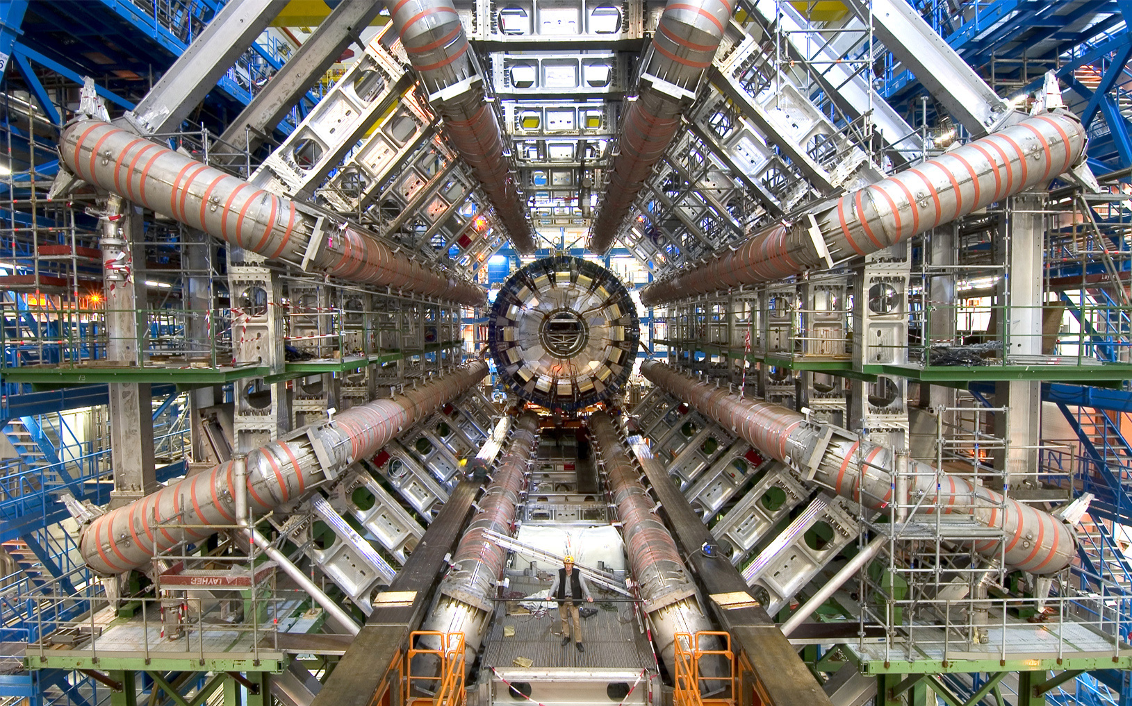 The Large Hardon Collider is the world's largest and most powerful particle accelerator. It is used to  investigate many aspects of particle physics and was intregal in Higgs and Englert's discovery. Photo from extremetech.com