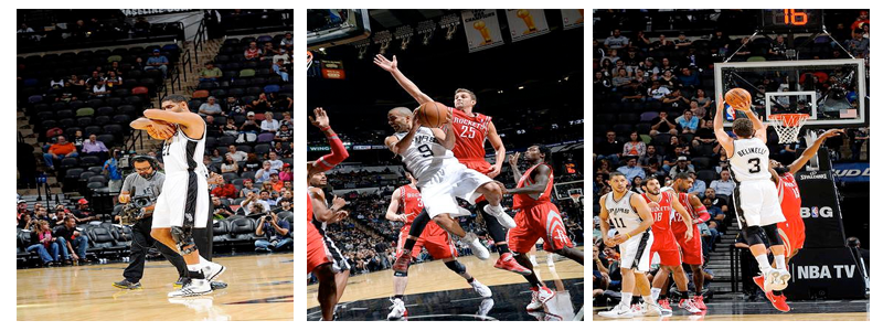 Tim Duncan, Tony Parker, Marco Bellininni