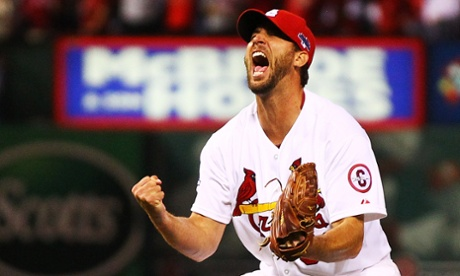 Adam Wainwright finishes a complete game to take the Cardinals to the NLCS Media by Dilip Vishwanat/Getty Images