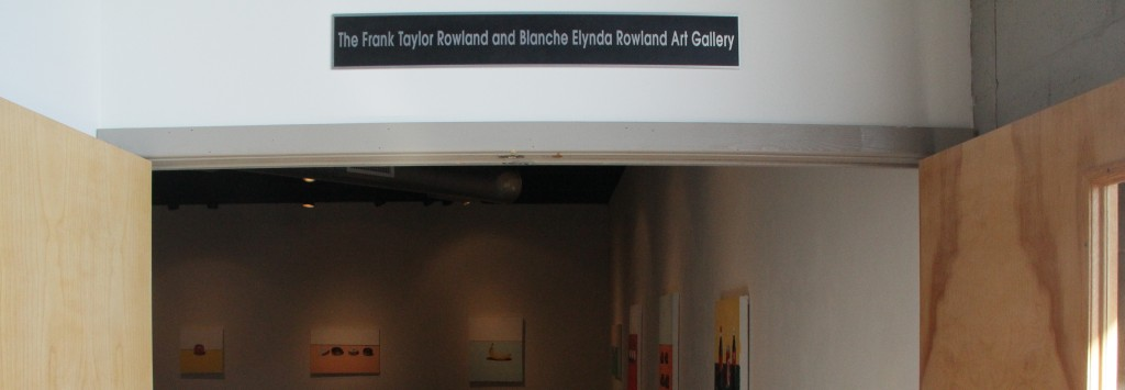 The Frank Taylor Rowland and Blanche Elynda Rowland Art Gallery.  Photo by Sean McFarland.