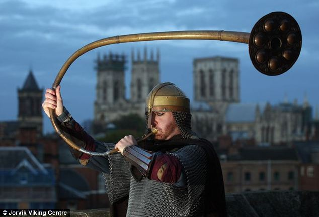 The end of the world was signaled in York on Nov 14, 2013 as a horn was blown to herald the beginning of the apocalypse. Photo: Jorvik Viking Centre
