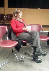 Dr. Holden at the Fireside Chat