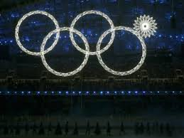 The fifth snowflake at the opening ceremony fails to change into the fifth Olympic ring Media by breitbart.com