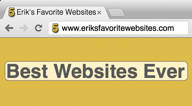 Erik's Favorite Websites