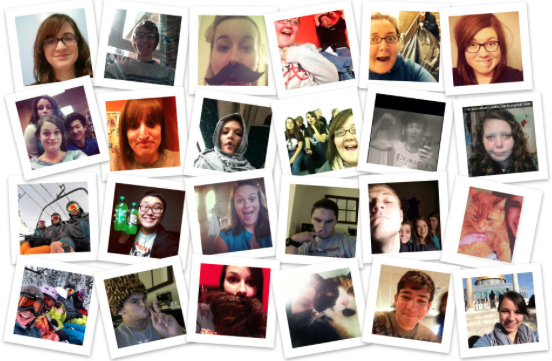 Selfies by Greenville College Students Collage made by Cassandra Rieke