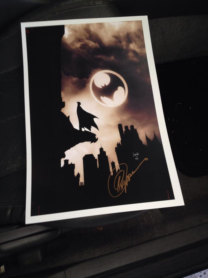 One of the prints I got signed by artist Greg Capullo.