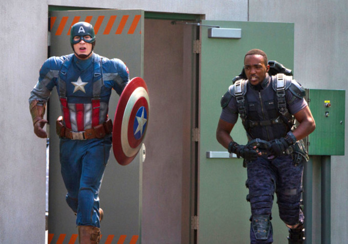 Cap and his new sidekick, Falcon, run into action. From indiewire.com