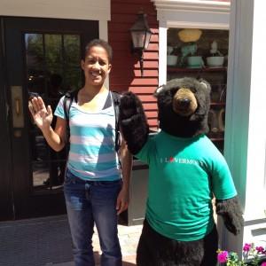 Lexi and a bear.