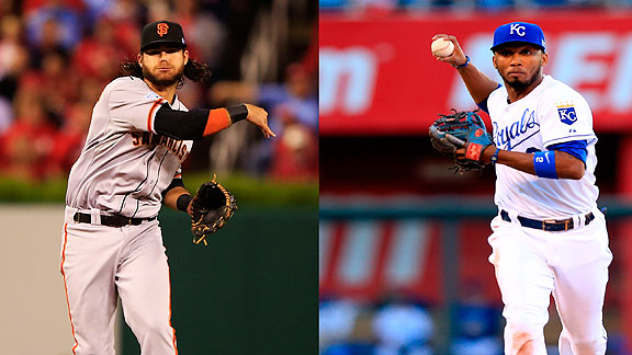 Brandon Crawford vs Alcides Escobar Media by www.espndeportes.com