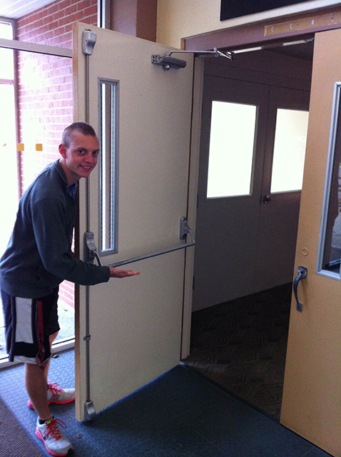 One of many friendly door openers - with Austin Brinkman Source: Thomas Hajny