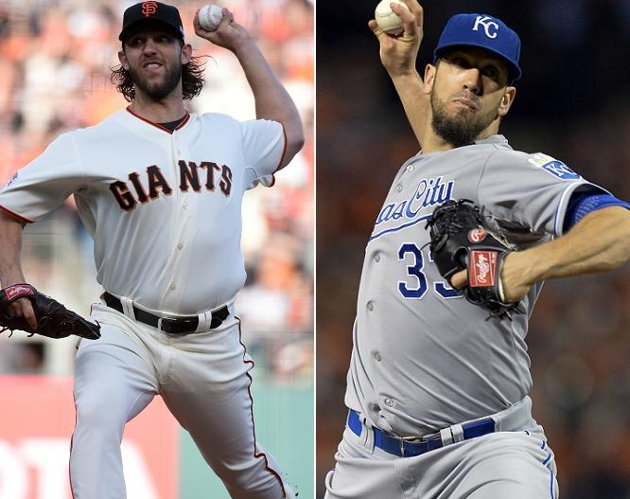 Madison Bumgarner faces James Shields in game one of the 2014 World Series Media by sports.yahoo.com