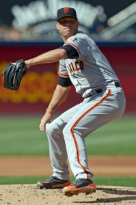 Giants Tim Hudson pitches a gem before 18 inning marathon vs Washington. Media by www.baltimoresun.com