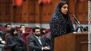 Reyhaneh Jabbari's trial. Source: www.cnn.com
