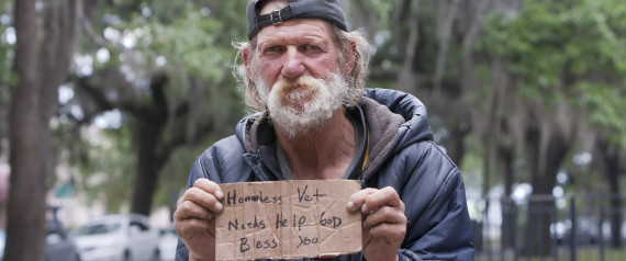 Desperate Homeless people on Street in Fort Lauderdale. Source: www.huffingtonpost.com