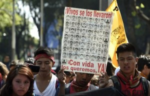 Protest for the death of 43 missing students in Mexico. Source: www.economist.com