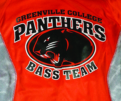 Bass fishing team greenville university papyrus for Fishing team shirts