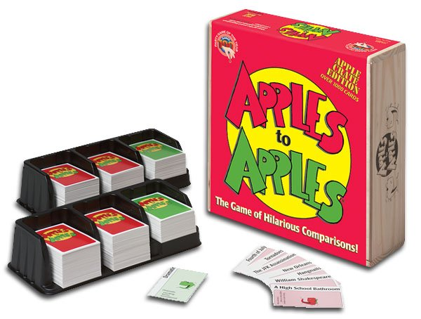 Apples to Apples is a fun game that will keep you laughing from start to finish. Source: www.fairplaygames.com