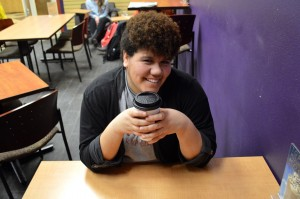 LaRyssa Herrington likes to beat the cold with some hot chocolate or coffee at Jo's!