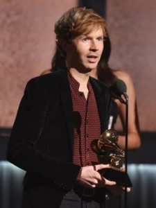 Beck at the 2015 Grammy's. Source: newstimes.com