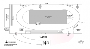 Image by Cedarville University. Cedarville's track layout