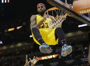 Image from hurriyetdailynews.com. Cleveland Cavs' LeBron James