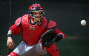 Image from whatproswear.com. St. louis Cardinals catcher Yadier Molina