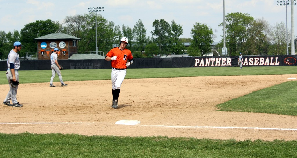 Josh Wheeler rounding third after hitting a home run. Photo by Wes O'Dell