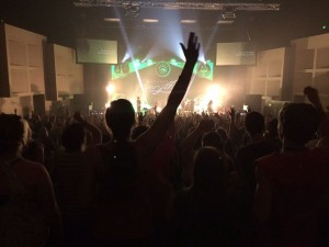 My view during a night of worship in Oregon. Photo by Taylor Likes.