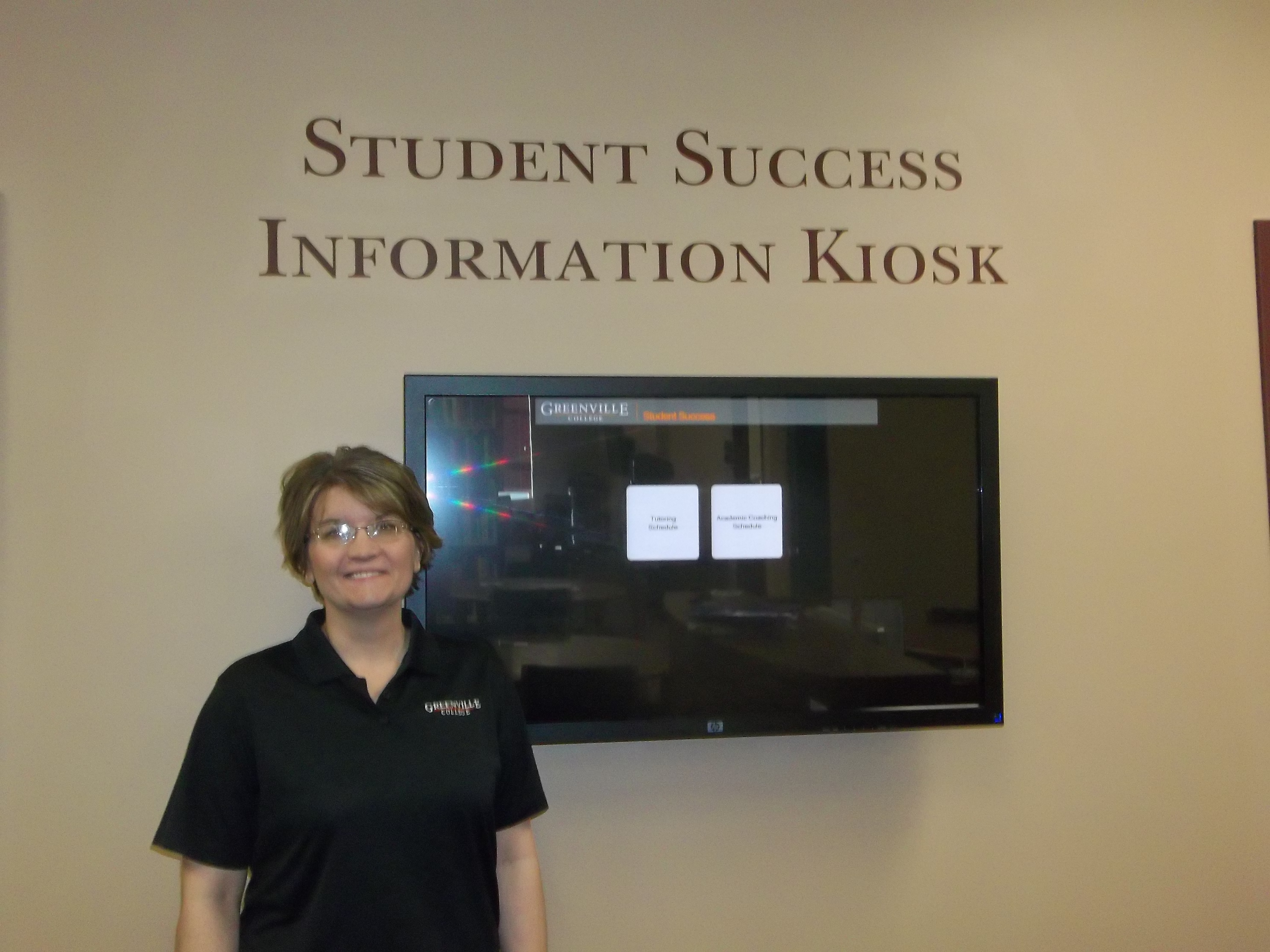 Gina Kester loves to help students find jobs during the school year and the summer. She works with peer tutoring and is always willing to help students out.