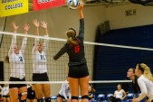 Allyson Mitchell, the reigning SLIAC Newcomer of the Year, is primed for a big year at the net.  Photo by Laurie Hannula