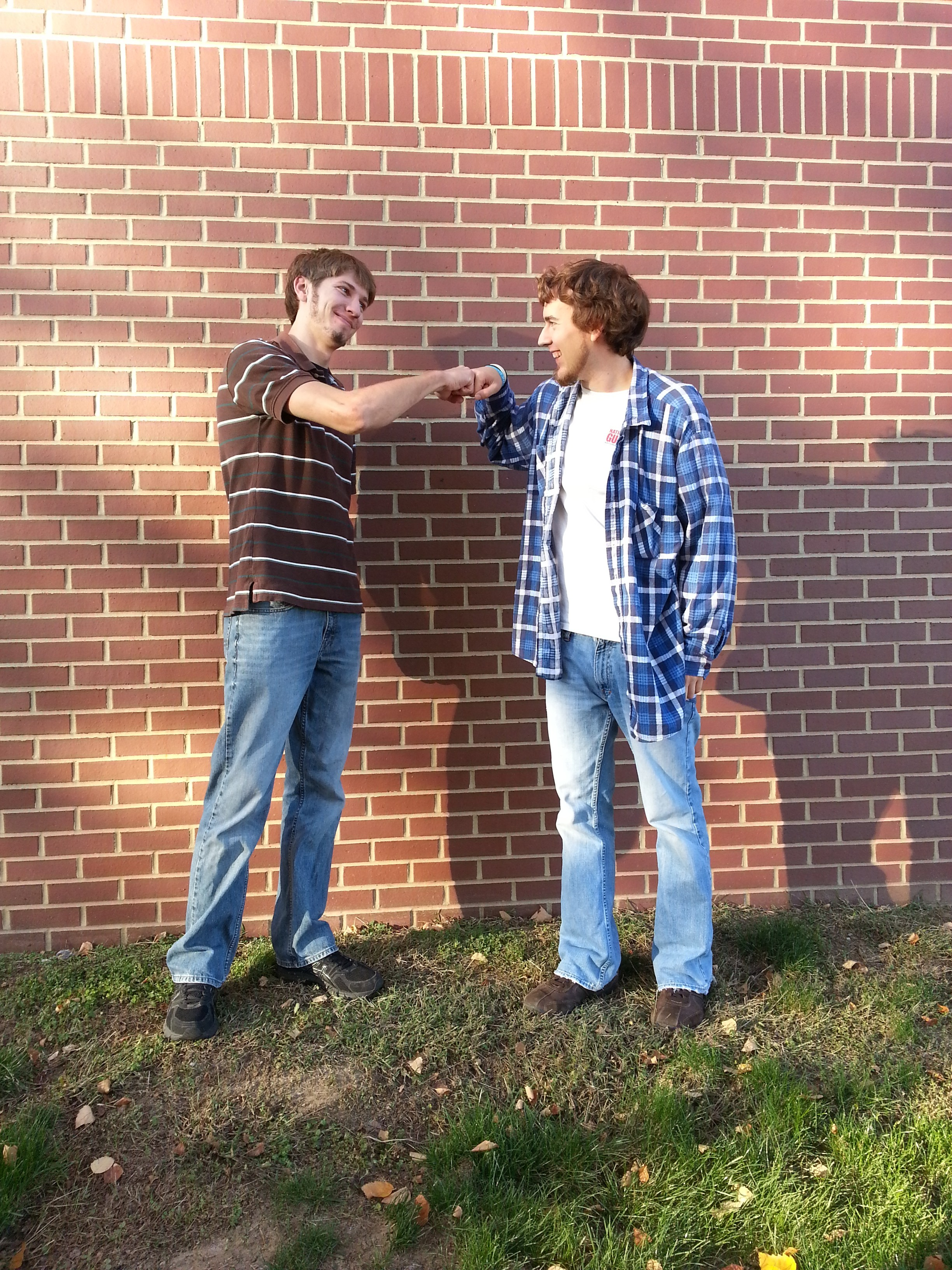 Matt Bauman and Thomas Hajny bro-fist their troubles away.