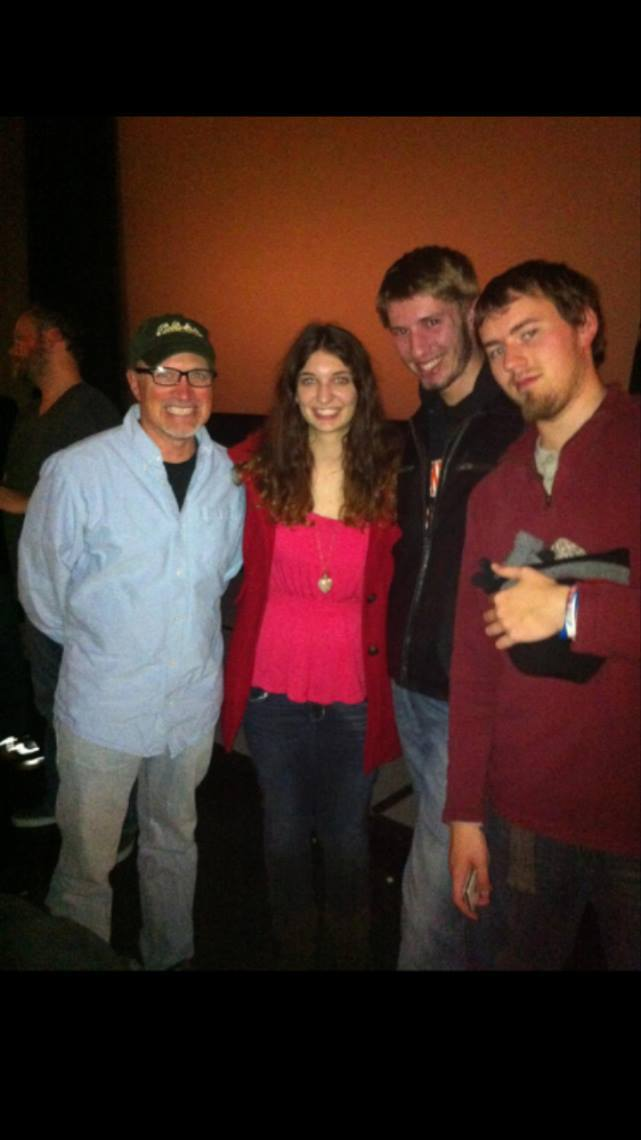 From left to right: Deloy Cole, the best professor around, Kelsey Neier, Matt Bauman and Thomas Hajny. Source: Kelsey Neier
