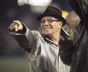Green Bay Packers Head Coach Vince Lombardi pointing from sidelines. One of the greatest coaches who helped make football more than just a game.