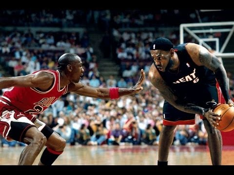 260ff098eaa Michael Jordan and LeBron James have been labeled two of basketball s best.  Image from youtube