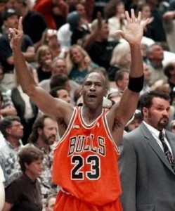 Michael Jordan won six championships during his playing career.  Image from omer84.tripod.com