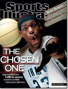 LeBron James has been a superstar since high school. Image from psacard.com
