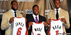 James joined stars Dwyane Wade and Chris Bosh in Miami before the 2011 season.  Image from travel.cnn.com