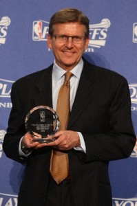 Hammond was named NBA Executive of the Year in 2010.  Photo from kaufmannsports.