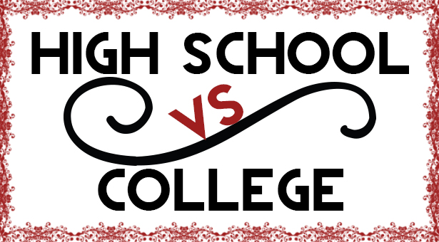 high school vs college compare and contrast