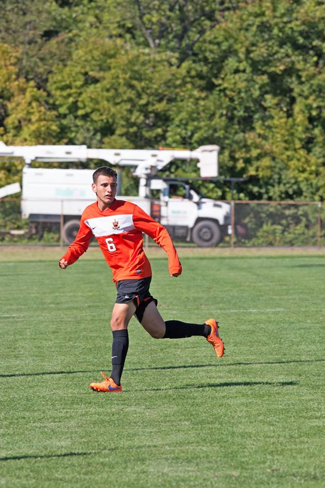 Edgar Bueno looking to recieve the ball. Image by Greenville Men's Soccer Facbook Page