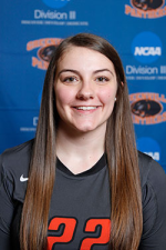 Mary Beth Mertin's official Greenville Women's Volleyball. Image by Greenville College.