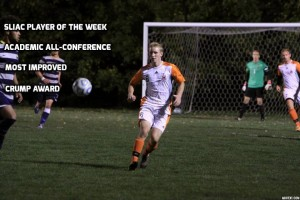 Jones was also awarded and earned SLIAC player of week in one stage of his sophomore season. Jones improved on and off the field, he also made the All Academic Conference for his grades.