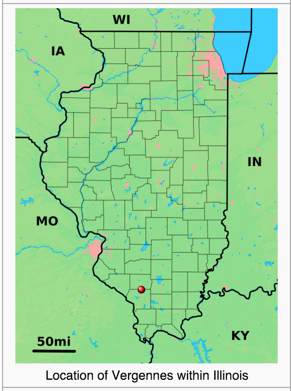 Location of Vergennes IL. Source: https://en.wikipedia.org