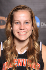 Coley Baker contributed 21 points and 7 blocks in the victory.  Photo by Greenville College Athletics.