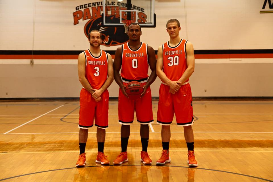 Greenville Men's Basketball seniors posing for a picture. Image by Greenville Men's Basketball Facebook Page.